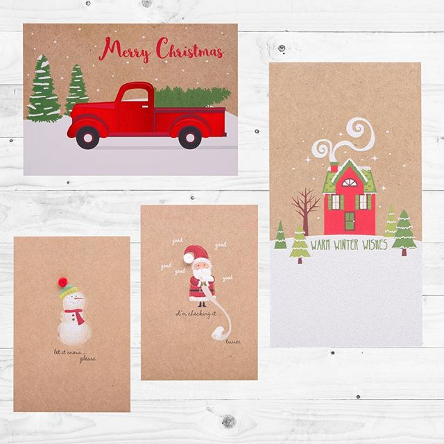 Kraft Christmas Cards