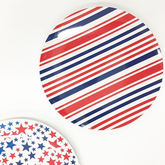 Sharing A Little Red White And Blue On This First Day Of Summer Mainstays Melamine Dinnerware Perfect For The 4th Found In 1 48 Each
