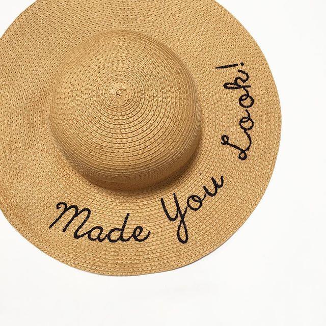 Words Straw Floppy Hat - Walmart Finds 55e143058dd