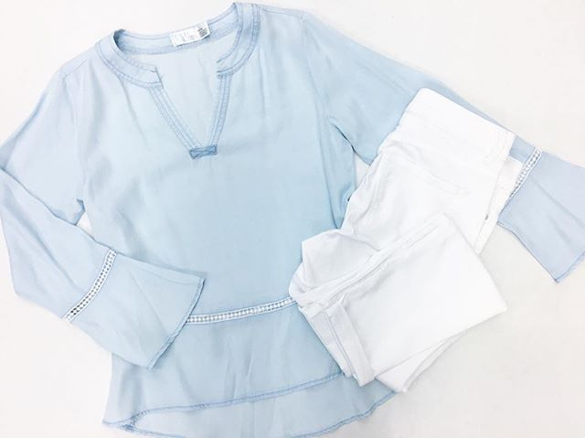 69a2ea2cd9ee65 I m loving all of the new pieces in the Time and Tru line available  in-store and online at Walmart right now. This pretty chambray top is  available in ...
