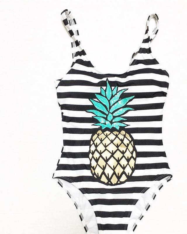 d2fc015c7af No Boundaries Pineapple Passion One-Piece Swimsuit - Walmart Finds