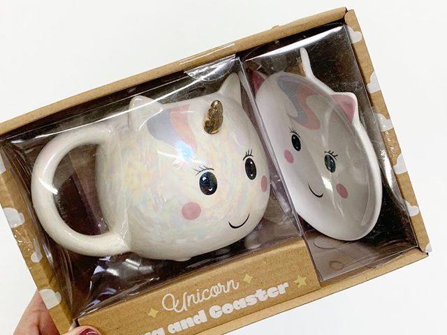 Unicorn Mug and Coaster Set