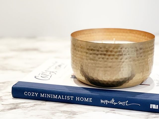 BHG Hammered Metal Bowl Candle