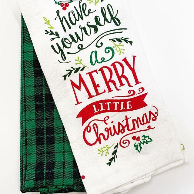 """Christmas Kitchen Towels At Walmart: Holiday Time """"Merry Little Christmas"""" Kitchen Towel"""