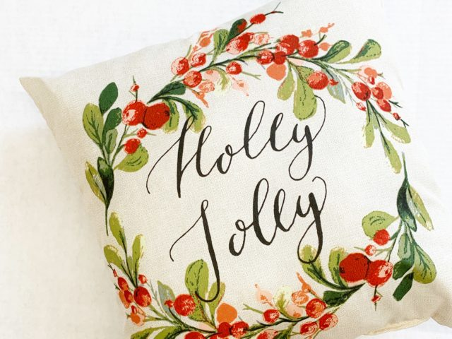 Mainstays Holly Jolly Toss Pillow
