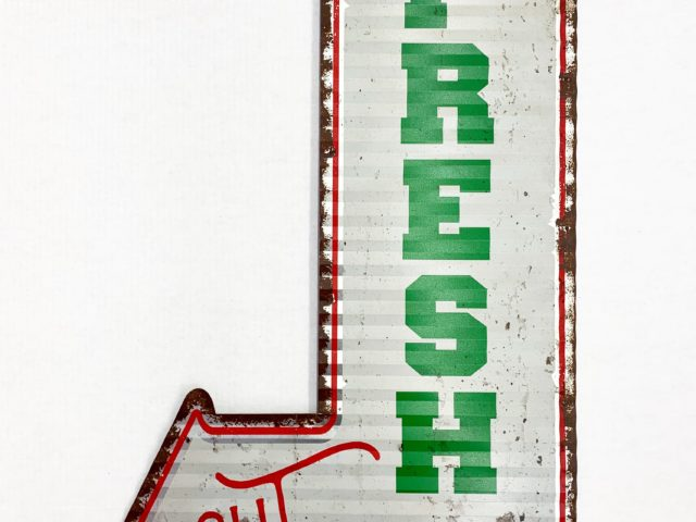 """Fresh Cut Trees"" Metal Sign"