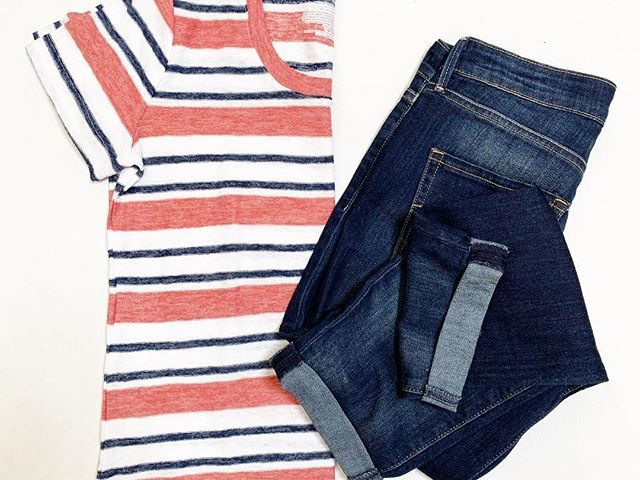 Time and Tru Striped Tee and Signature Cuffed Jeans