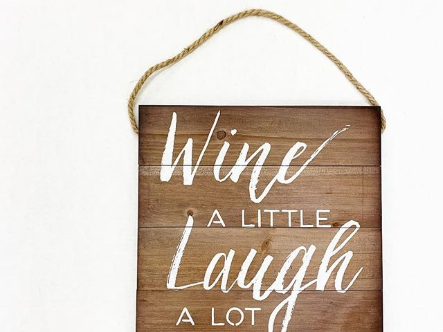 Better Homes and Gardens Wine a Little Wall Hanging