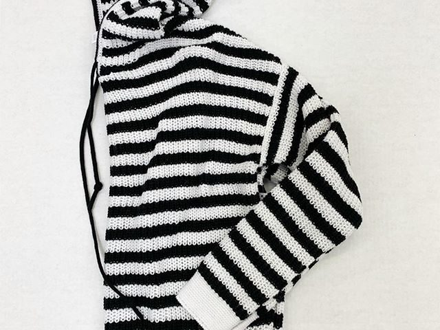 Time and Tru Striped Hooded Sweater