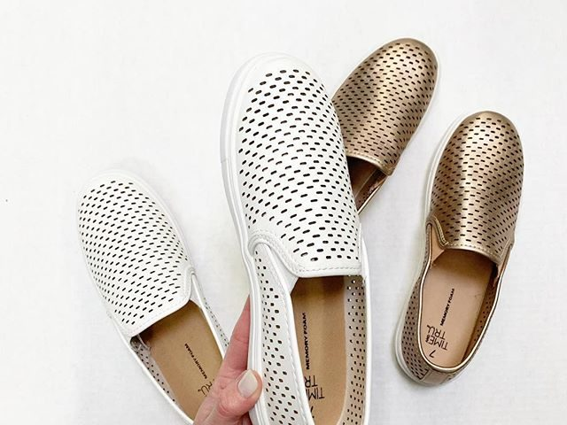 Time and Tru Perforated Slip Ons