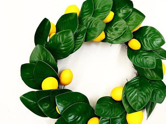 Lemon Magnolia Wreath