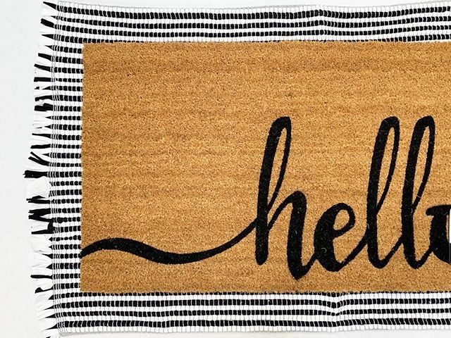Mainstays Hello Coir Doormat and Chindi Rug