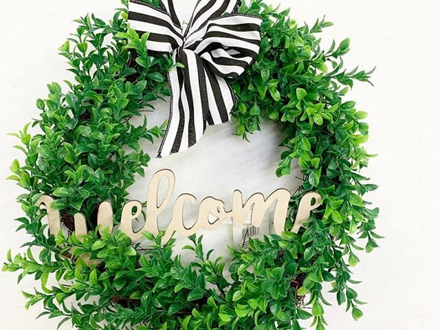 Way To Celebrate Faux Boxwood Wreath