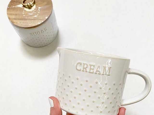 Better Homes and Gardens Dotted Cream Pitcher and Sugar Canister