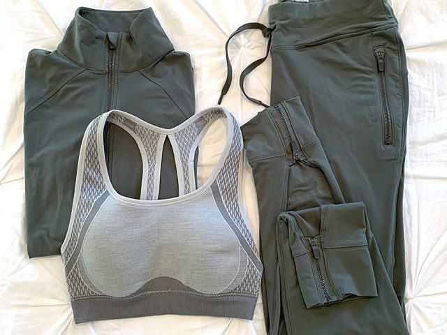 Avia Flex Tech Joggers, Jacket, and Seamless Sports Bra