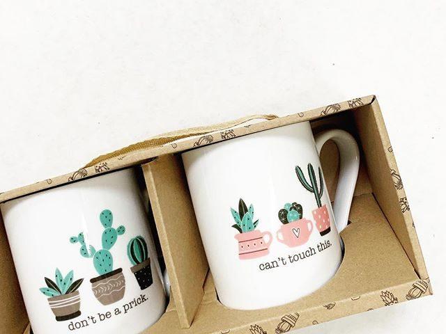 His and Hers Cactus Mug Set