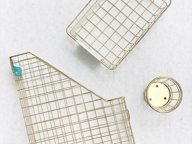 Pen + Gear Gold Wire Desk Accessories