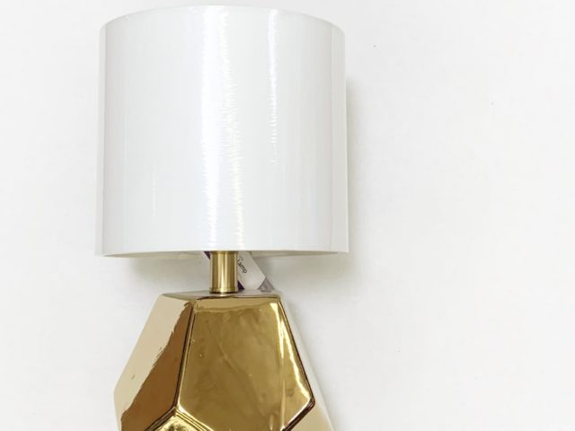 Better Homes and Gardens Gold Finish Orb Table Lamp