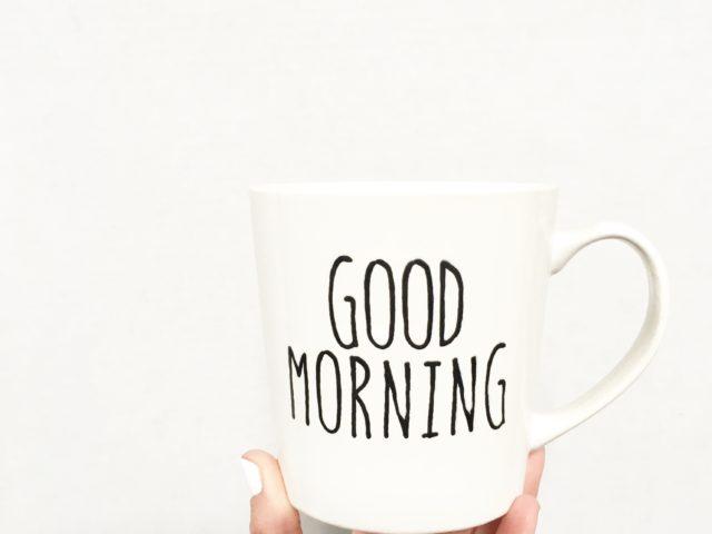 Rae Dunn Inspired Good Morning Mug