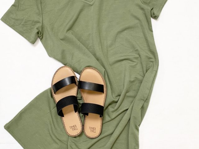 Time and Tru French Terry Dress and Sandals
