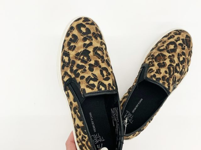 Time and Tru Quilted Leopard Slip-On Shoe