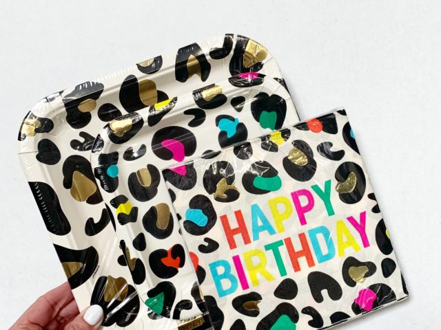 Leopard Print Paper Plates and Napkins
