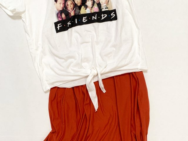 Friends Tee and Time and Tru Sleeveless Dress