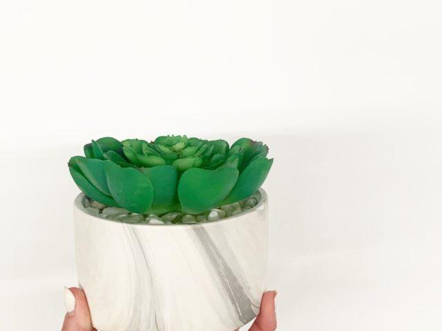 Faux Succulent in Ceramic Pot