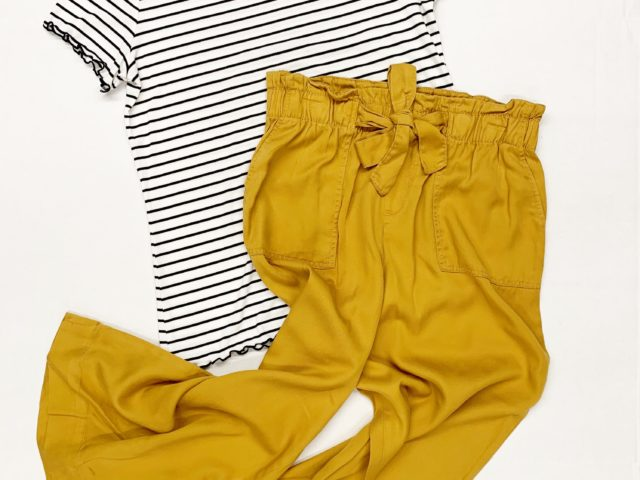 Time and Tru Paperbag Pants and Lettuce Edge Tee