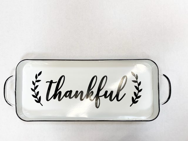 Way to Celebrate Harvest Metal Tray – Thankful
