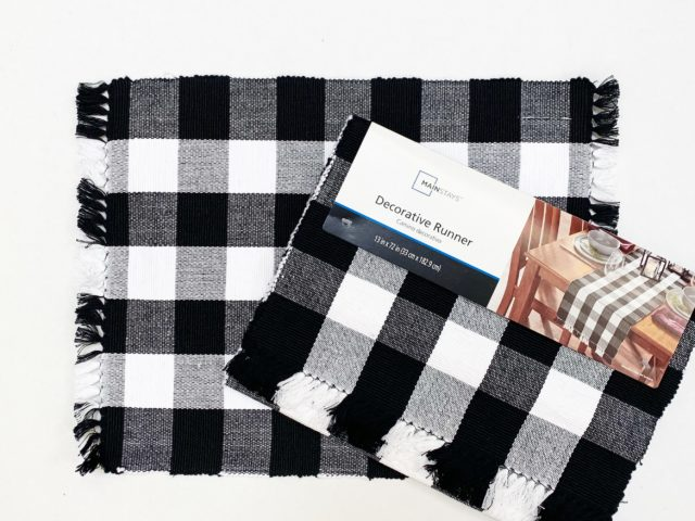 Mainstays Buffalo Plaid Placemats and Table Runner