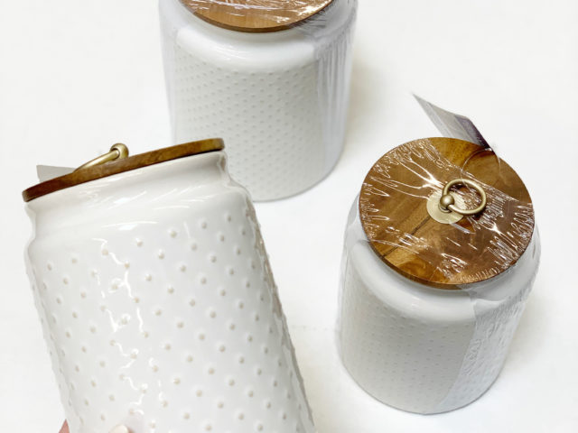 Better Homes and Gardens Hobnail Canisters