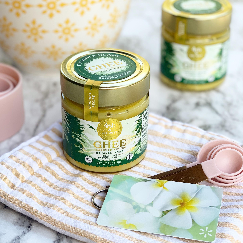 ghee clarified butter in a jar