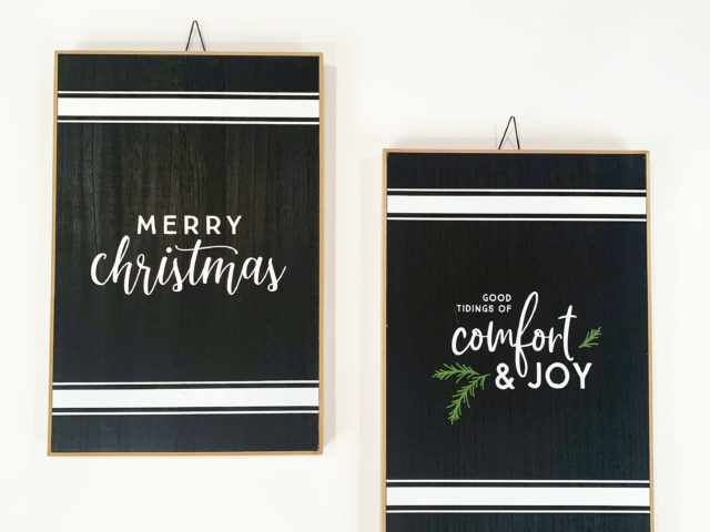 Holiday Time Christmas Hanging Signs