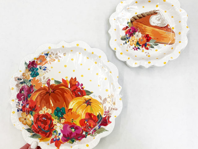 Pioneer Woman Fall Pumpkin Paper Plates