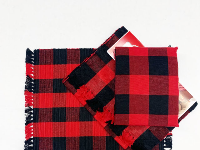 Red Buffalo Plaid Placemats, Table Runner, and Tablecloth