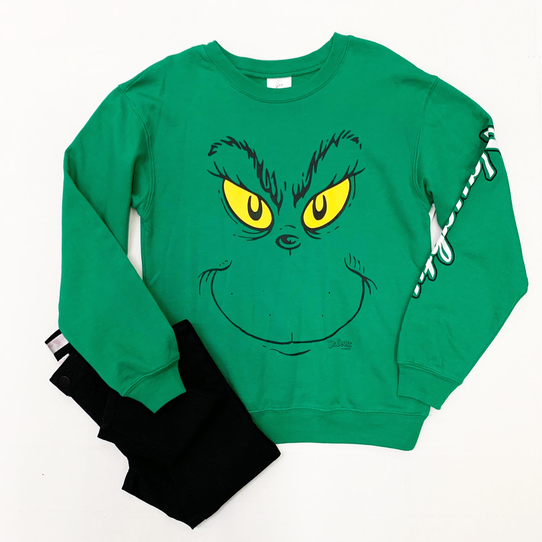 women's grinch sweatshirt