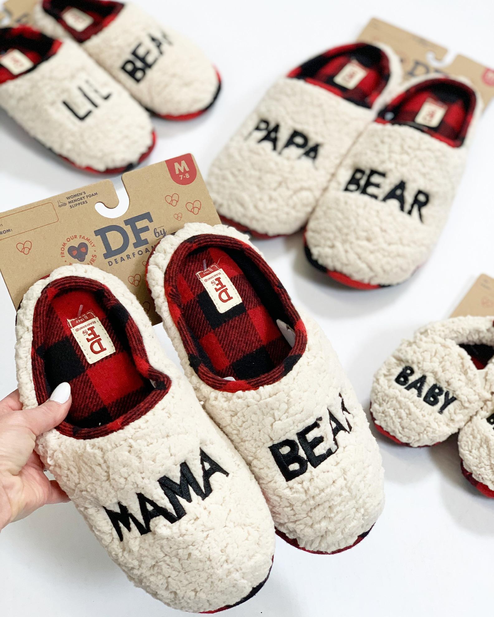 dearfoams bear mama slippers