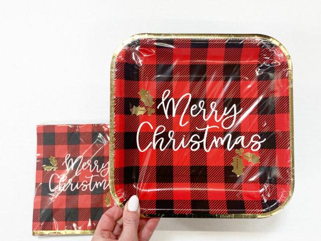 Holiday Time Buffalo Plaid Paper Tableware