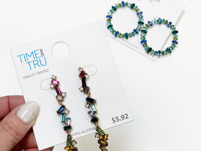 Time and Tru Statement Earrings
