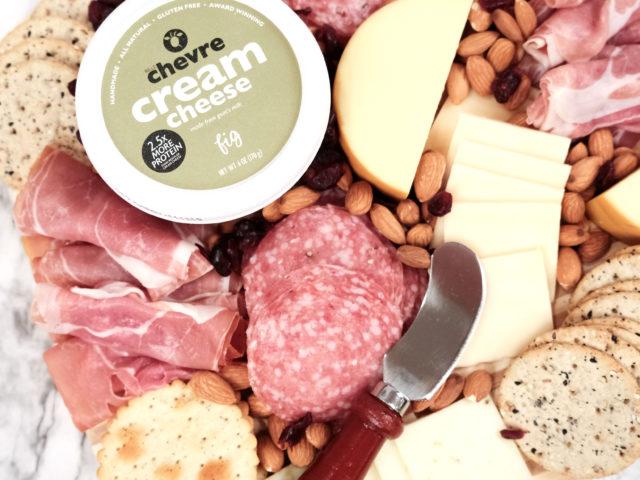 Belle Chevre Cream Cheese Charcuterie Board