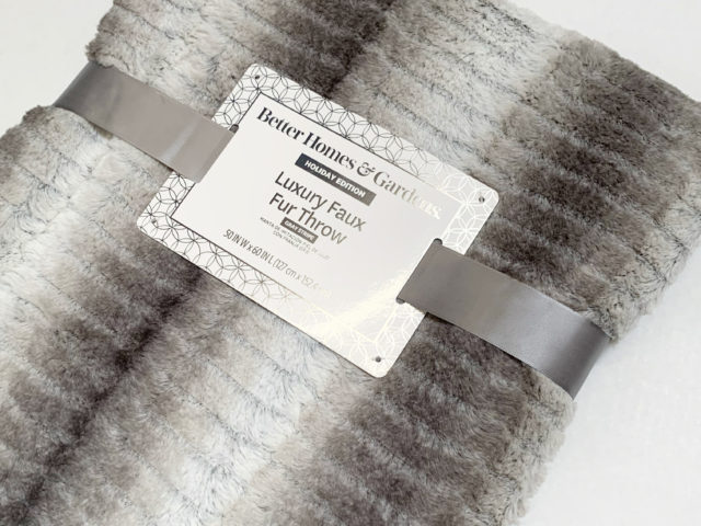 Better Homes and Gardens Luxury Faux Fur Throw