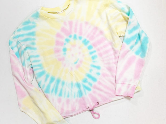 No Boundaries Tie Dye Cinched Waist Sweatshirt