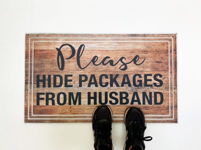 Mainstays Please Hide Packages Doormat