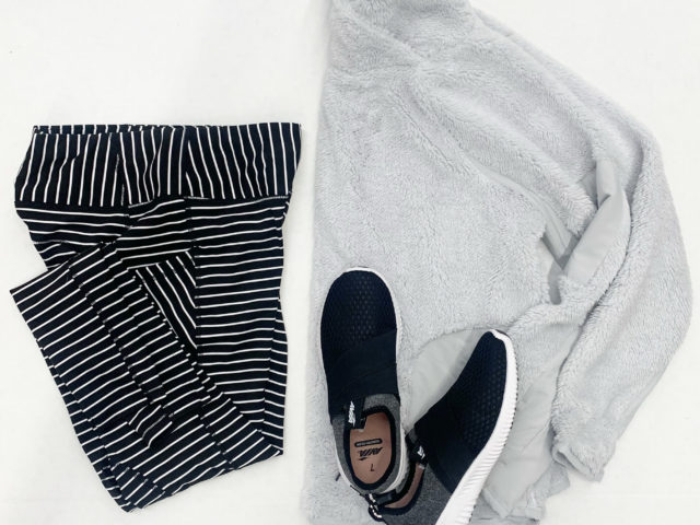 Avia Striped Lulu Dupes, Athleisure Sherpa, and Athletic Shoe