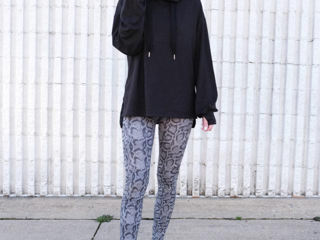 Avia Long Sleeve Tunic and Snake Print Leggings