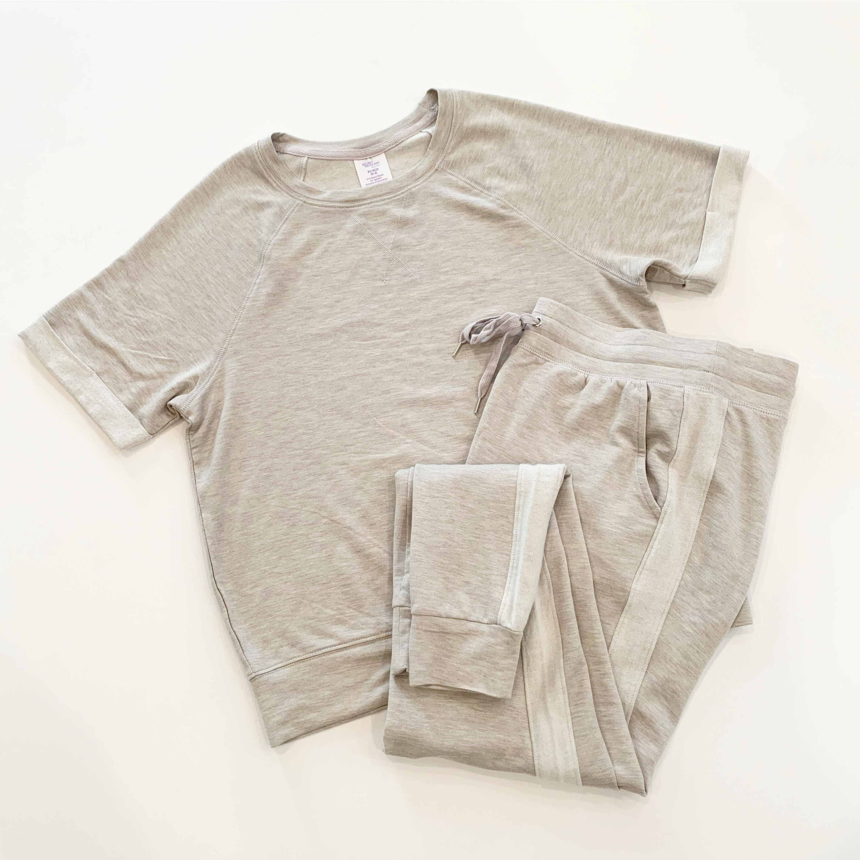 short sleeve jogger sleep set