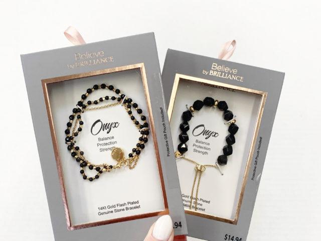 Believe by Brilliance Onyx Bracelets