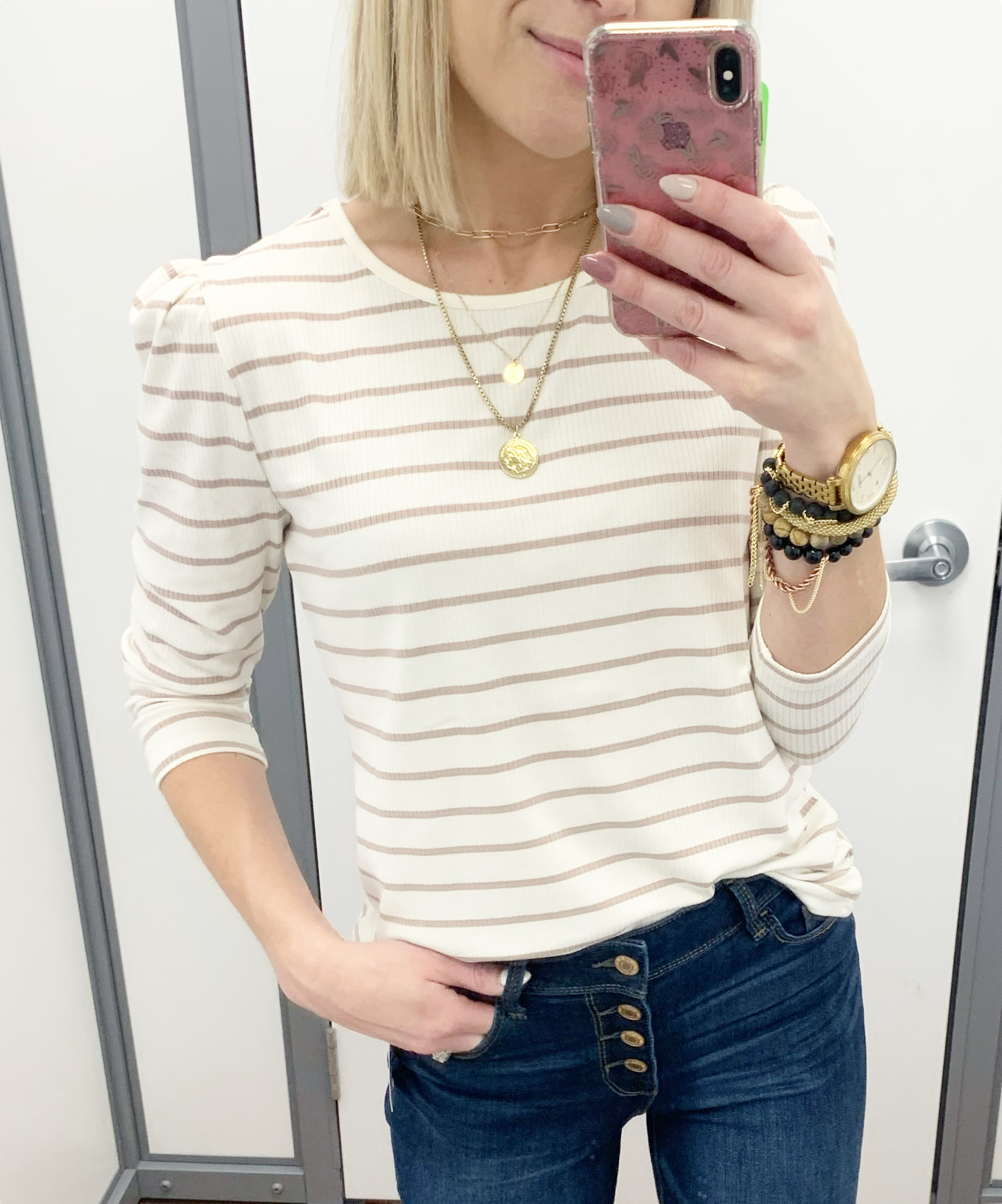 time and tru puff sleeve top