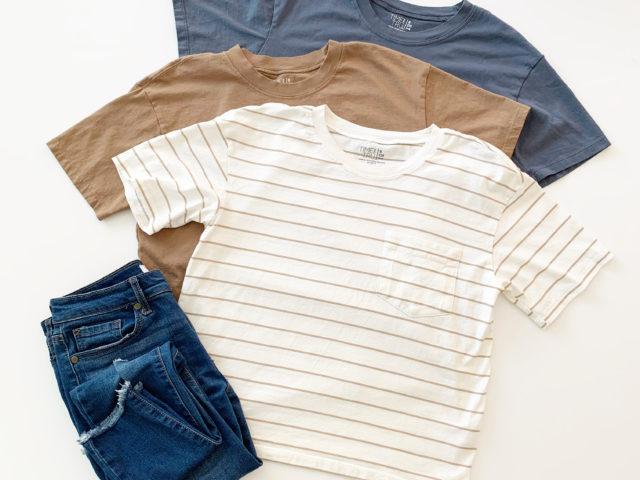 Time and Tru Pima Cotton   Boyfriend T-Shirt